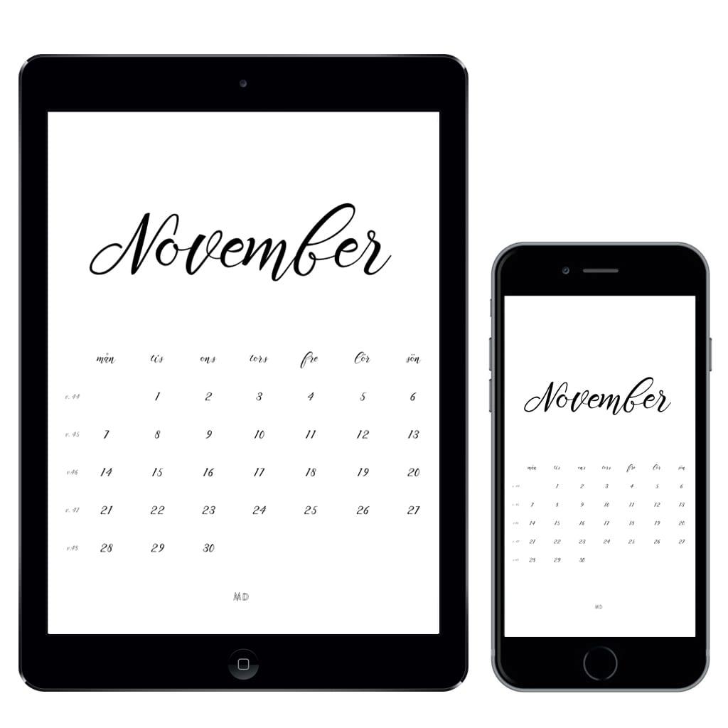 Gratiskalender för november