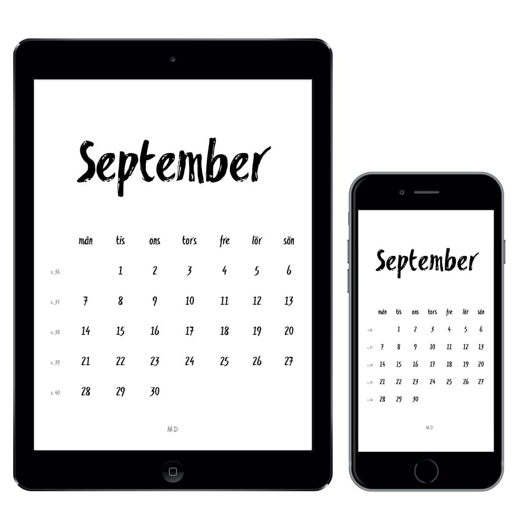 kalender för september