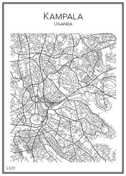 Stadskarta över Kampala