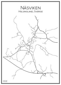 Stadskarta över Näsviken
