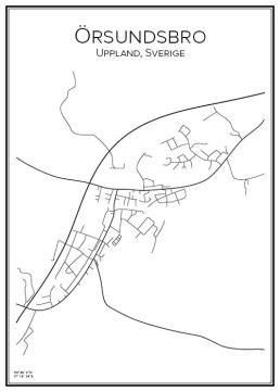 Stadskarta över Örsundsbro