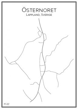 Stadskarta över Östernoret