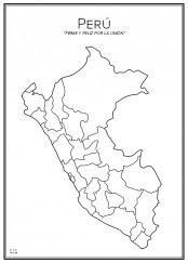 Stadskarta över Peru