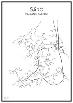 Stadskarta över Särö