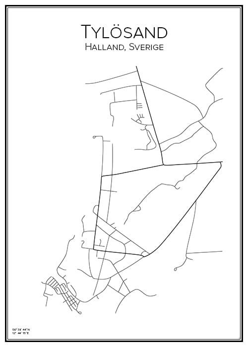 Stadskarta över Tylösand