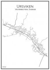 Stadskarta över Ursviken