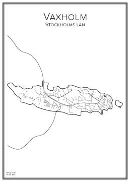 Stadskarta över Vaxholm