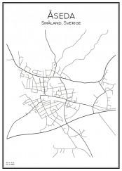 Stadskarta över Åseda