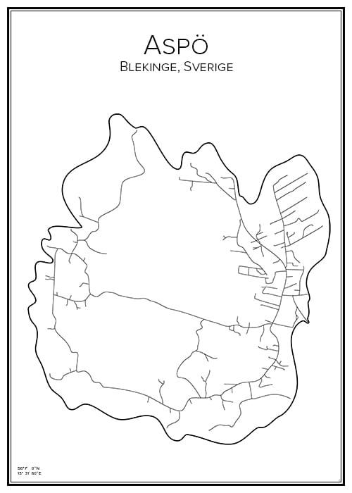 Stadskarta över Aspö