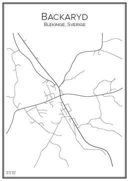 Stadskarta över Backaryd