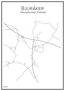 Stadskarta över Bjuråker
