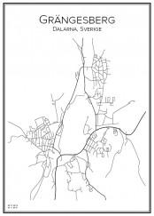 Stadskarta över Grängesberg
