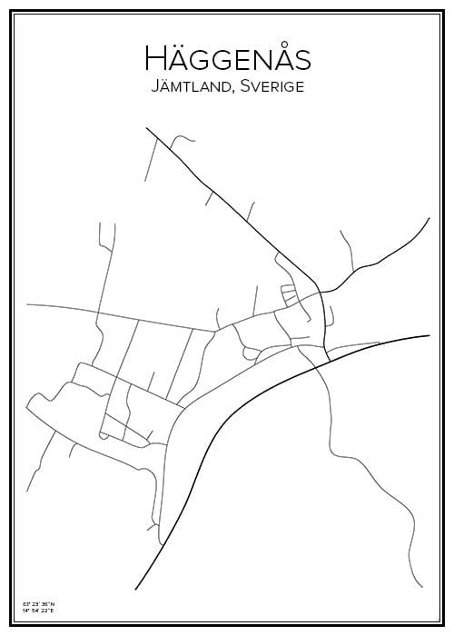 Stadskarta över Häggenås