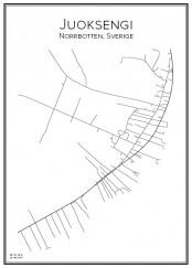 Stadskarta över Juoksengi