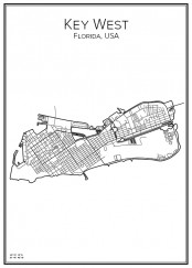 Stadskarta över Key West