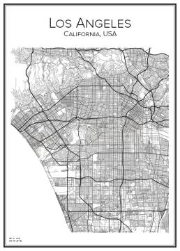 Stadskarta öve Los Angeles