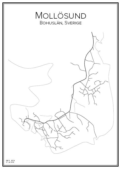 Stadskarta över Mollösund