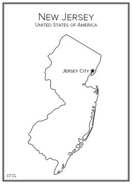 Stadskarta över New Jersey