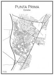 Stadskarta över Punta Prima