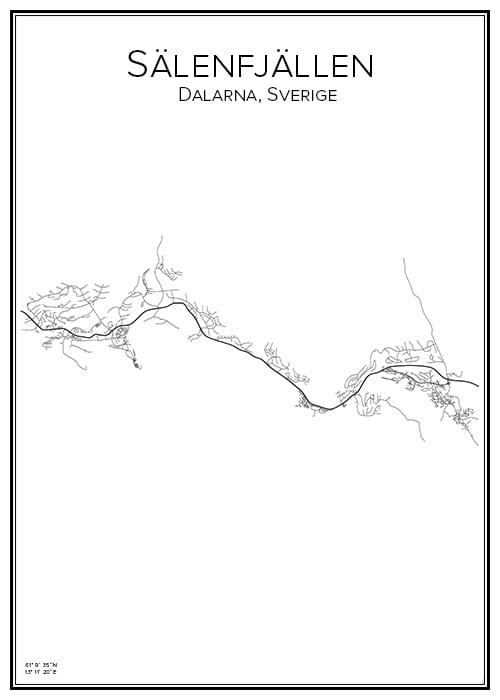 Stadskarta över Sälenfjällen