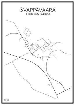 Stadskarta över Svappavaara