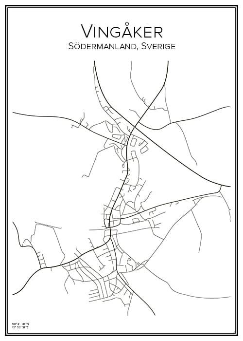 Stadskarta över Vingåker