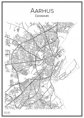 Stadskarta över Aarhus
