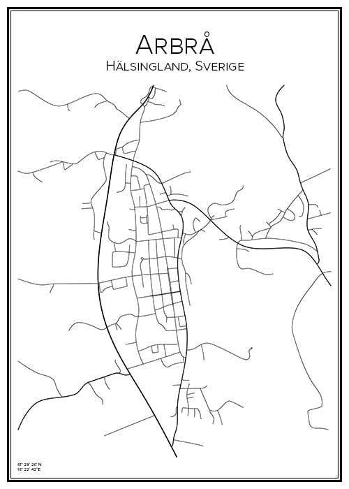 Stadskarta över Arbrå