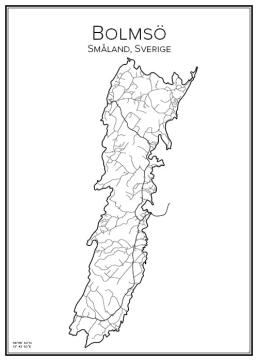 Stadskarta över Bolmsö