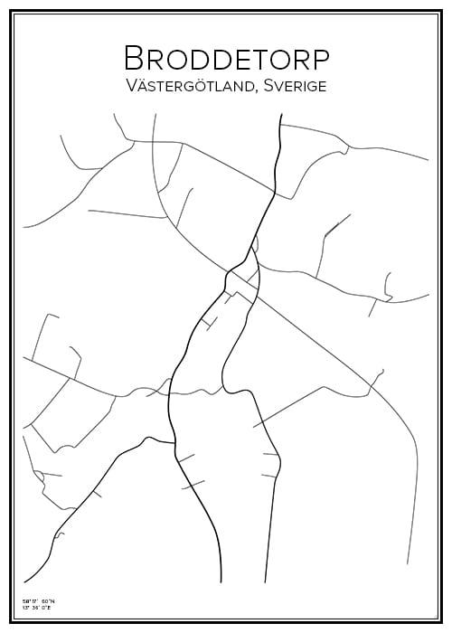 Stadskarta över Broddetorp