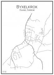 Stadskarta över Byxelkrok