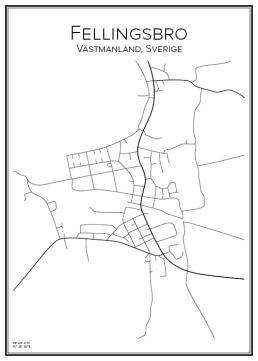 Stadskarta över Fellingsbro