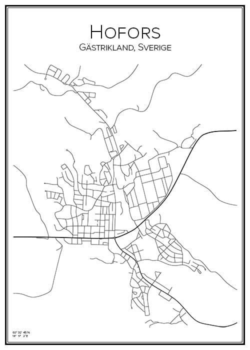 Stadskarta över Hofors