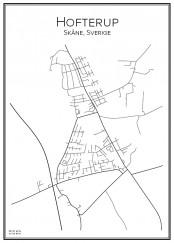 Stadskarta över Hofterup