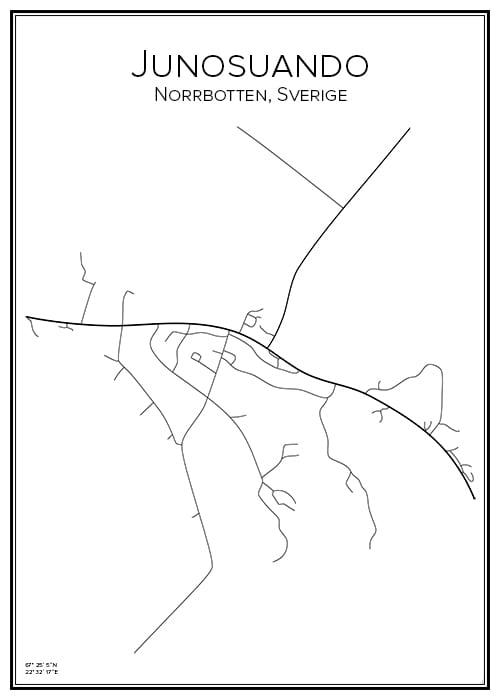 Stadskarta över Junosuando