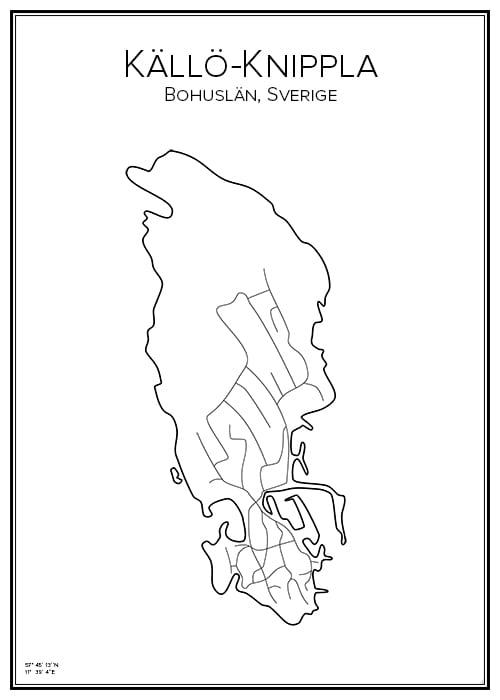 Stadskarta över Källö-Knippla