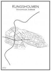 Stadskarta över Kungsholmen