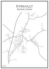 Stadskarta över Kyrkhult
