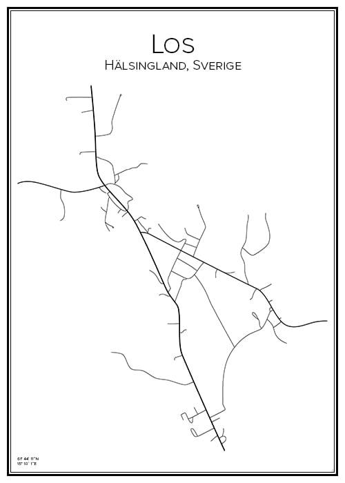 Stadskarta över Los