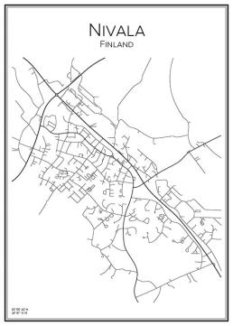 Stadskarta över Nivala