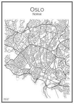 Stadskarta över Oslo
