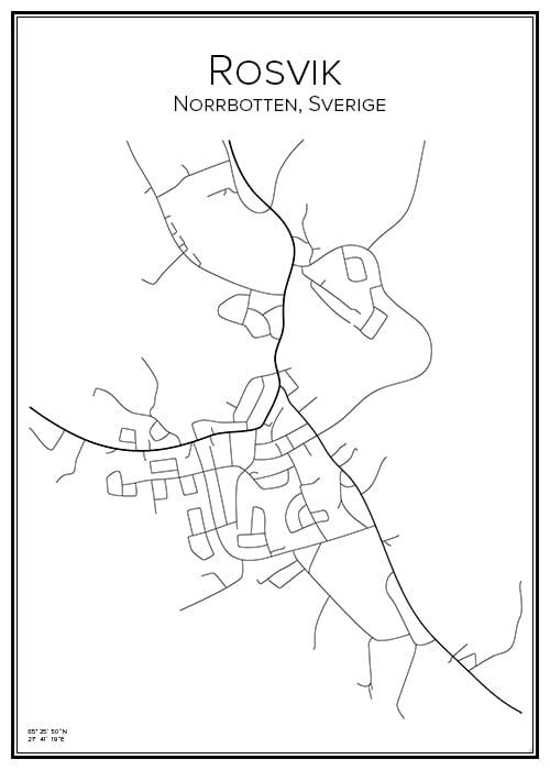Stadskarta över Rosvik