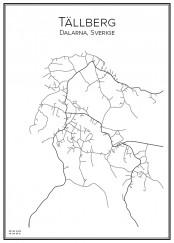 Stadskarta över Tällberg
