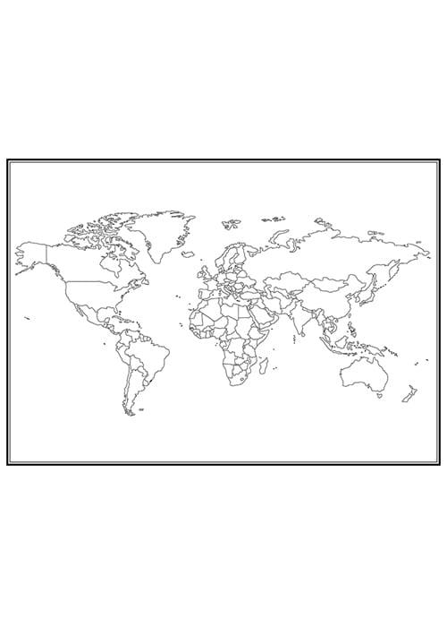 Stadskarta över världen