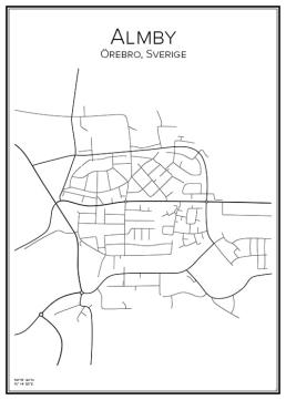 Stadskarta över Amby