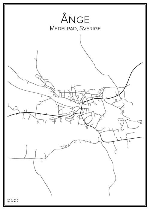 Stadskarta över Ånge