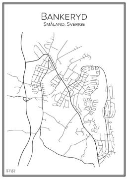 Stadskarta över Bankeryd