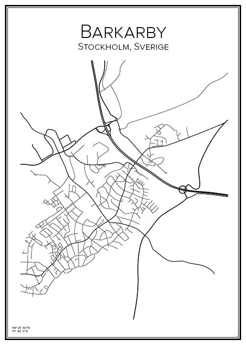 Stadskarta över Barkarby