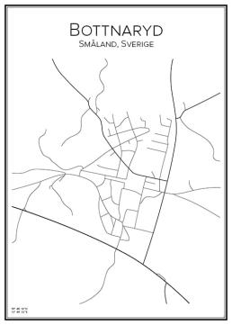 Stadskarta över Bottnaryd