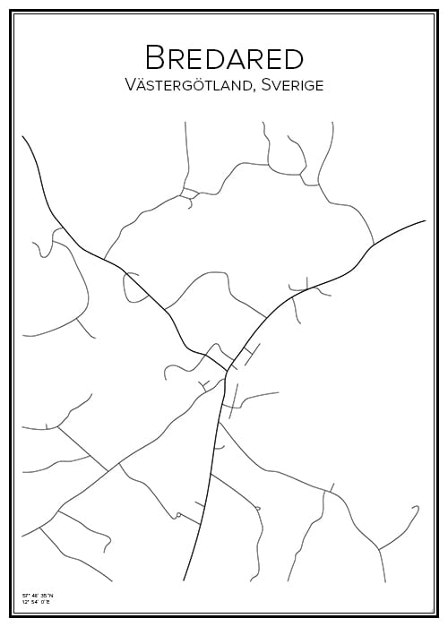 Stadskarta över Bredared